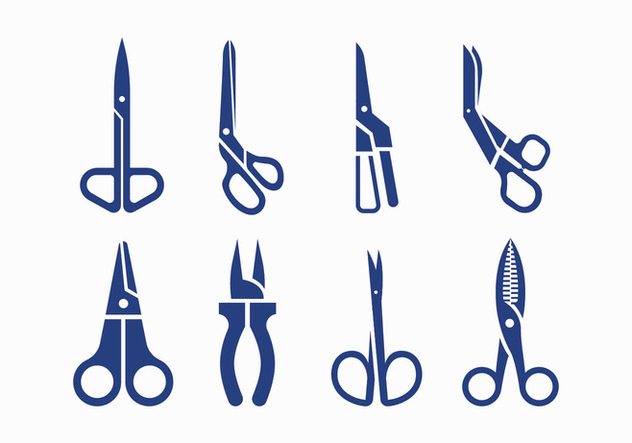 Scissors silhouette icons - Free vector #413521
