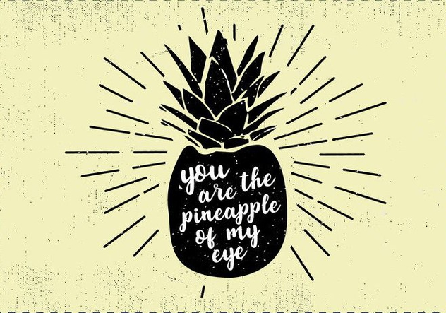 Free Hand Drawn PineappleFruit Background - Free vector #413551