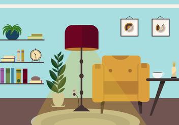 Free Retro Vector Livingroom - Free vector #413591