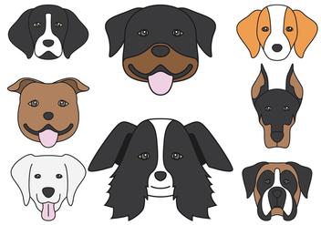 Dog head Icons - Free vector #413621