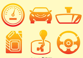 Car Element Gradient Icons Vector - Kostenloses vector #413711