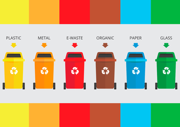 Landfill Garbage Sorting - Kostenloses vector #413741