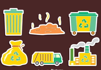 Nice Garbage Element Vector Set - бесплатный vector #413761