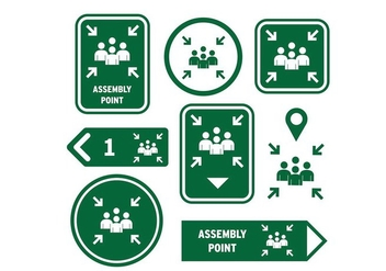 Meeting Point Sign Icon Free Vector - Free vector #413771
