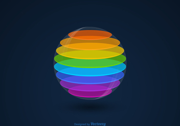 Free Vector 3D Colourful Sphere - Free vector #413851
