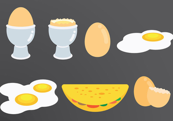 Free Omelet Icons Vector - Free vector #413941
