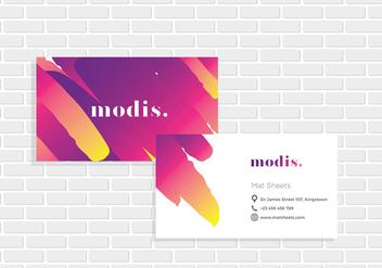 Name Card ModisTemplate Vector - Free vector #413961