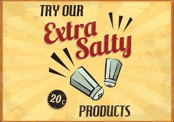Extra Salty Restaurant Vector - Free vector #413981