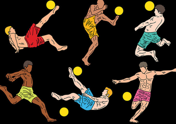 Free Beach Soccer Icons Vector - Free vector #414081