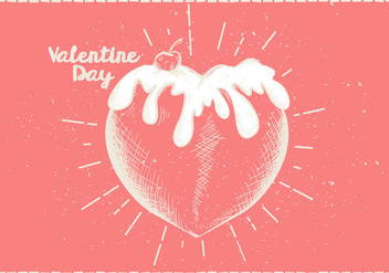Free Hand Drawn Valentines Vector Background - Free vector #414301