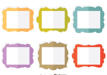 Colorful Flat Frame Vector Set - Free vector #414401