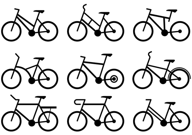 Bycicle Icons - Free vector #414431