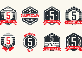 Anniversary Vintage Badges - Free vector #414511