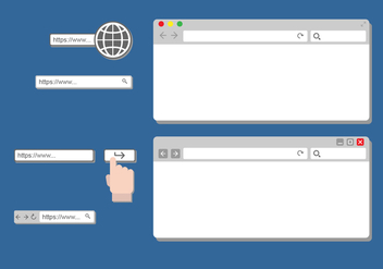 Address Bar Design - бесплатный vector #414701