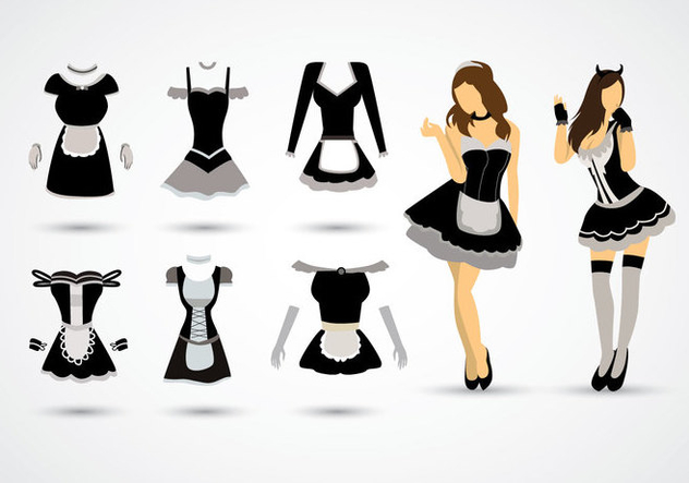 Free French Maid Vector - Free vector #414721
