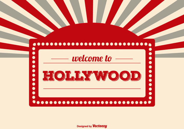Welcome to Hollywood Illustration - Free vector #414751