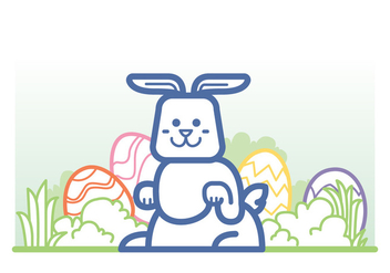 Easter Bunny Vector - бесплатный vector #414831