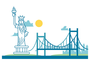 New York Landscape - Free vector #414841
