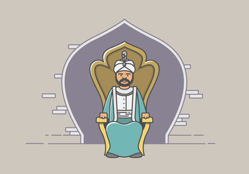 Sultan and the Kingdom - vector gratuit #414861