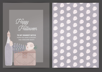 Vector Halloween Card - vector gratuit #414961