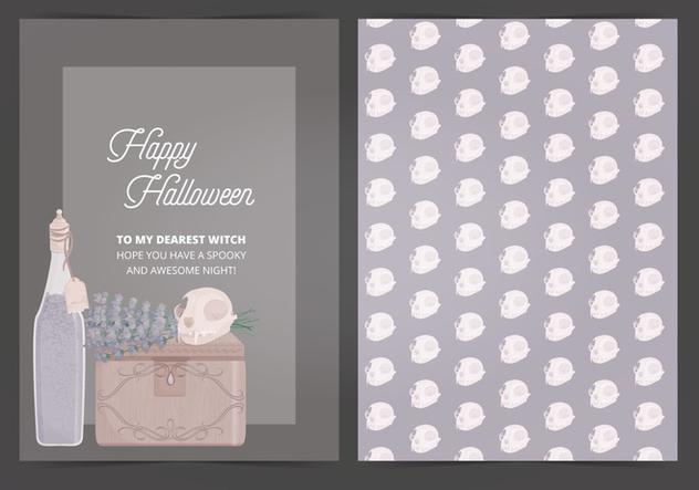 Vector Halloween Card - vector #414961 gratis