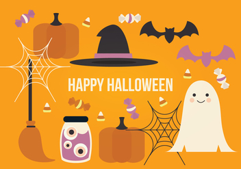 Halloween Vector Elements - Free vector #414971