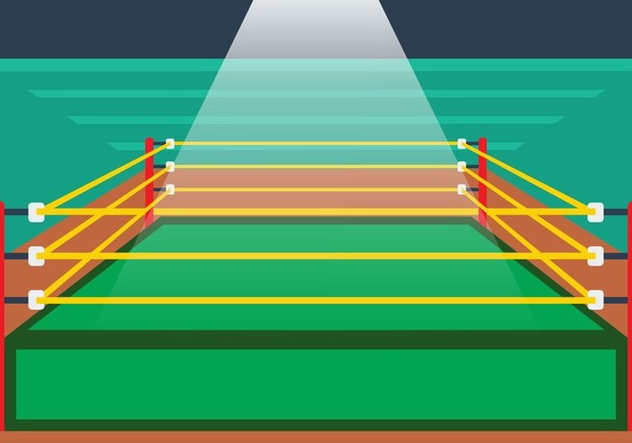 Illustration Of Wrestling Ring - vector #414991 gratis