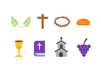 Free Holy Week Icons - Free vector #415331