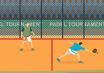 Free Padel Illustration - Free vector #415381