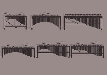 Marimba Front View Vector - Free vector #415521