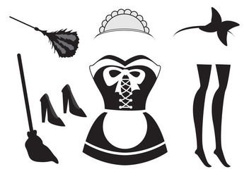 Illusration of French Maid Element - vector #415711 gratis