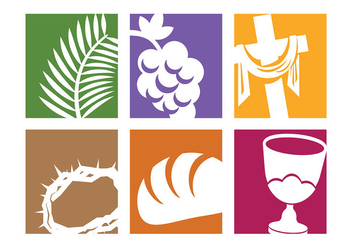 Free Holy Week Icons Vector - Free vector #415721
