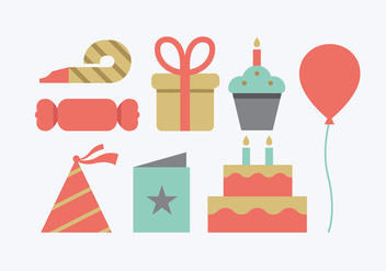 Birthday Party Icons - vector #415751 gratis