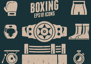 Boxing Icons - vector gratuit #415761
