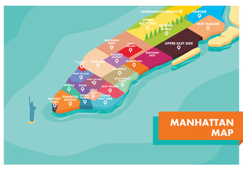 Manhattan Map Free Vector - vector #415941 gratis