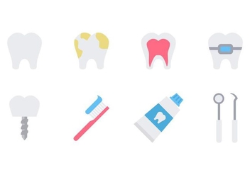 Free Dentist Icons Flat Vector - Free vector #416311