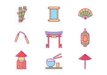 Free Chinese Culture Icons - vector #416621 gratis