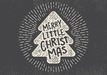 Free Vintage Hand Drawn Christmas Tree With Lettering - vector gratuit #416681