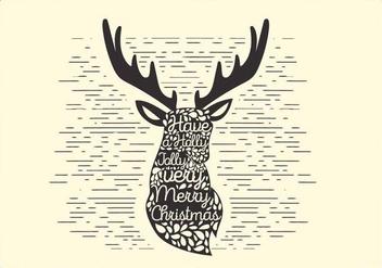 Free Christmas Vector Reindeer Typography - vector gratuit #416691