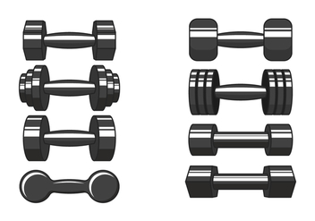 Dumbell Vector Icons - Free vector #416741