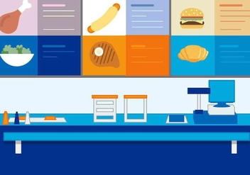 Free Vector Fast Food Stand - Kostenloses vector #417071