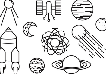 Free Doodle Space Vectors - Free vector #417091