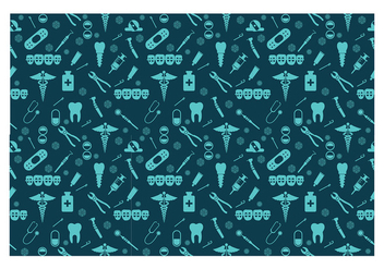Dentista Seamless Pattern Free Vector - Free vector #417281