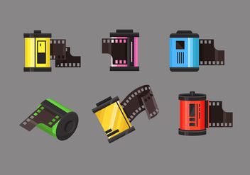 Film Canister Vector Item Sets - Free vector #417421