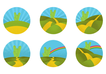 Circular Yellow Brick Road - Free vector #417521