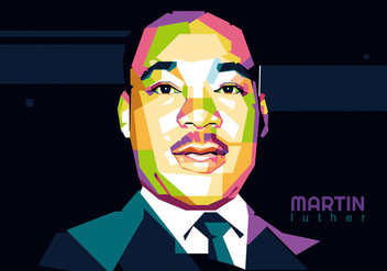 Martin Luther King Jr. WPAP - Free vector #417541