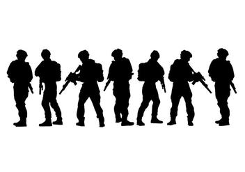 Army Siluetas Vector - Free vector #417651