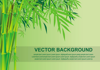 Bamboo Vector background - vector #417891 gratis