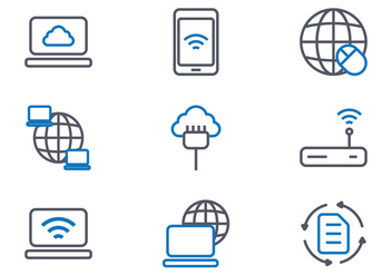 Internet Icons - Free vector #417921
