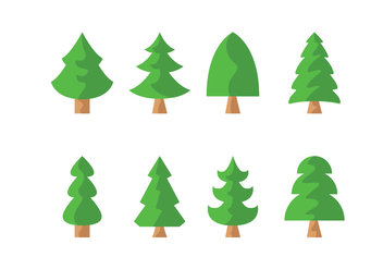 Free Pine Trees Vector - Free vector #417931